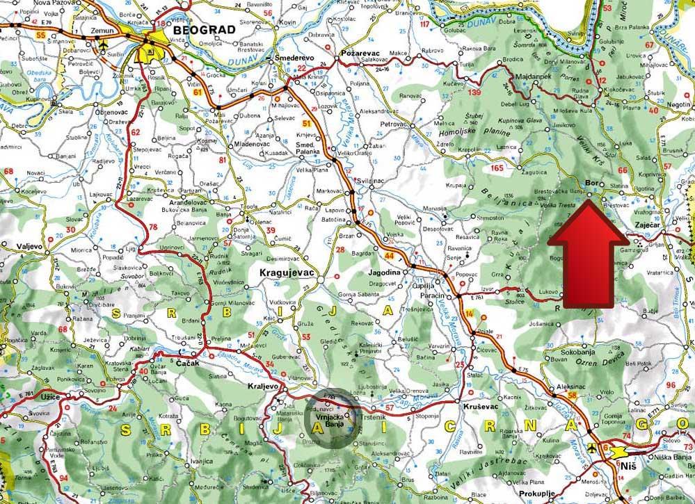mapa srbije pozarevac Mapa | Brestovacka Banja mapa srbije pozarevac