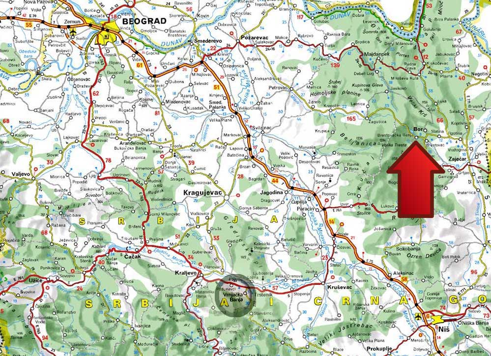 pozarevac mapa Mapa | Brestovacka Banja pozarevac mapa